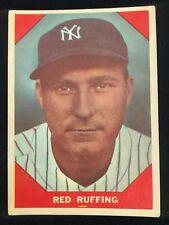 1960 Fleer #63 Red Ruffing aka: Charles Herbert Ruffing. Baseball Greats Card