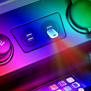 3x RGB Mini LED USB SUV Car Interior Atmosphere Light Ambient Lamp Accessories