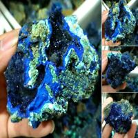 Top Natural Azurite Malachite Geode Crystal Mineral Specimen Reiki Stone Collect