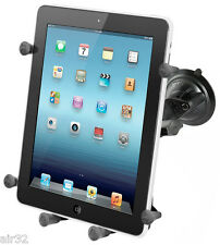 """RAM X-Grip Suction Cup Mount fits iPad, Other 10"""" Tablets w/Heavy Duty Case"""
