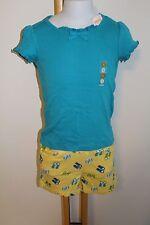 Gymboree Sea Splash Girls Size 7 Basic Top Beach NWT Flip Flop Shorts Knit