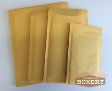 100 #000 Kraft Bubble Padded Envelopes Mailers 4 x 8 from TheBoxery