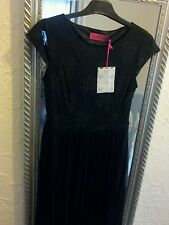 LADIES PARTY COCKTAIL DRESS SIZE 8 BLACK LACE LAST CHANCE TO BUY