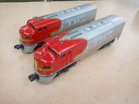 Lionel 2383, Santa Fe F3 Diesel AA Units, Post-War, 2383 dummy .  runs great!!