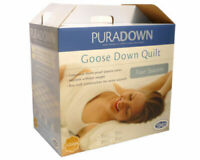 Puradown 4- Seasons Clip Together White Goose Down and Feather Quilt-All Sizes