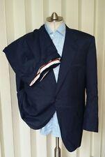 NICE! CANALI Suit Mens 48R 58R Navy Indigo Slub Blue 2 Btn Jacket Blazer Pants
