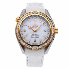 Omega Seamaster Planet Ocean Automático Acero Oro Reloj Mujer