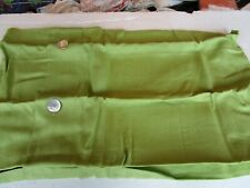 2 Pottery Barn Linen button shams lime green Euro  New