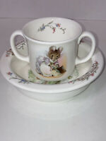 Royal Albert the world of Beatrix Potter 1986 cup and bowl EUC