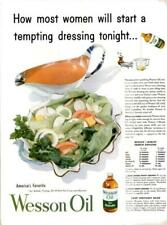 1953 Wesson Oil PRINT AD America's Favorite for Salads Dressing Recipes