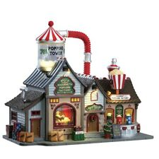 Lemax Bell's Gourmet Popcorn Factory Popping tower Sights and Sounds Brand New