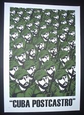 CUBA POSTCASTRO / Signed Cuban Pop Art Screenprint FIDEL CASTRO Poster / by ARES