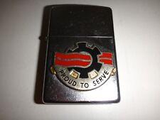 Year 2011 Street Chrome Zippo Lighter 240th QUARTERMASTER Bn Emblem *Never Used*