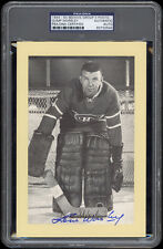 1944-63 Beehive (Group 2 Photos) Lorne Gump Worsley Autographed/Signed - PSA/DNA