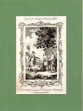 Samuel Wale-Caractacus traicionado a los romanos-raro en Talla Dulce (1770)