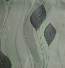 9 Metres Brundall Curtain Fabric - Peace Lily Print Fabric - Grey | £13.50/M