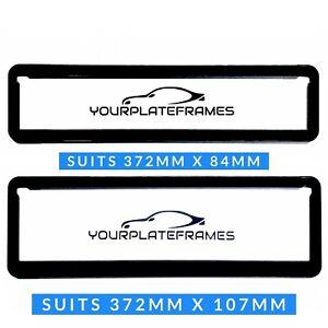 NSW Slimline Number Plate Frames Surrounds Holder  Black front & rear 1 PAIR