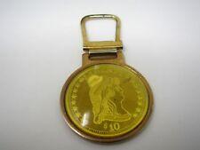 Vintage Keychain Charm: $10 Liberty Coin Design
