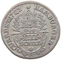 GERMAN STATES 4 SCHILLING 1727 HAMBURG #a38 299