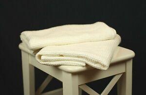 "100% Linen Bath Towel- Soft Waffle Ivory Linen Hand Towel 20x30"",16x28"""