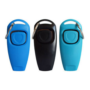 2 in 1 Dog Training Clicker and Whistle Combination Crufts K9 Pet Training Aid