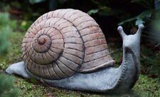 LARGE SNAIL Stone  Bespoke Handcast Animal Statue Patio Garden Ornament Decor