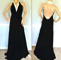 Ralph Lauren Collection Purple Label 2000 Runway Long Dress Gown IT 46 / US 10