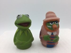 Vintage 1970's Dr Teeth & Kermit the Frog Finger Puppets - The Muppets