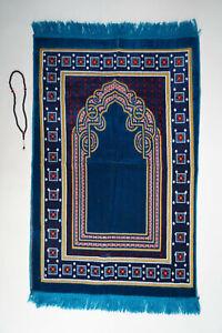 Prayer Mat/Rug+free tasbih Muslim NamazLuxuryTurkishRug Lace pattens Adult size