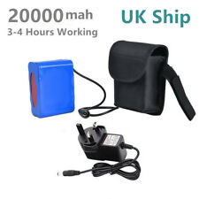 UK Ship 20000mAh 8.4V Rechargeable Battery Pack For T6 Bicycle Bike Light Lamp