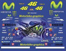 2016 MOVISTAR ROSSI  Moto  GP Full race decals graphics Stickers Kit BIN