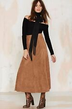 Cotton Candy By Nasty Gal Trailblazer Vegan Suede Maxi Skirt Size S