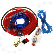 Car Kit Amplifier AMP Wiring Fuse 60A 8 Gauge 800W Audio Sound RCA Cable Kit