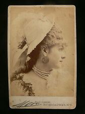 Venie Clancy - American Actress - c.1880 Cabinet Size Photograph - Died Aged 21