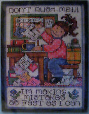 DON'T RUSH ME!!!  CROSS STITCH KIT by JOAN ELLIOTT for DESIGN WORKS CRAFTS