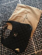 Burberry  Leather Quitted Brook Black Handbag Hobo Bag!!