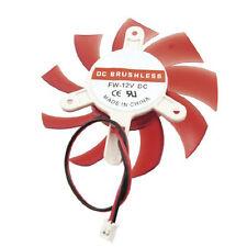Computer Red Plastic VGA Video Card DC 12V Brushless Cooling Fan LW SZUS