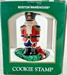 NUTCRACKER COOKIE STAMP MODEL NO. 08-603 BOSTON WAREHOUSE 1997 WITH BOX