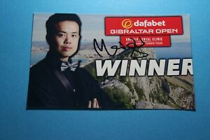 Marco Fu (Snooker) Signed Photo