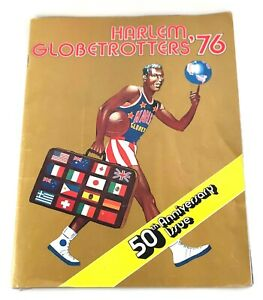 Harlem Globetrotters '76 50th Anniversary Magazine Vintage Collectible w/Poster