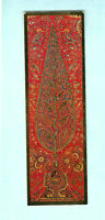 TURNOWSKY'S Art Bookmark Red 19th Tree of Life Oriental Wall Hanging Fabric Card