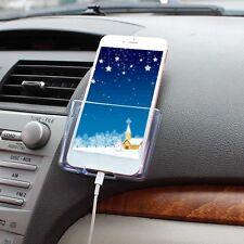 Car Multi-function Storage Box Bag GPS Phone Holder Organizer Charge Hole Rack
