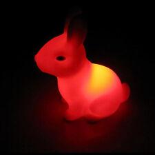 Cartoon AnimalSleep LED Night Light Rabbit Lamp Color Changing trendy