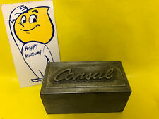 Original Ford Consul Tool Stamp For Emblem Trunk Lid V6 Coupé Characters