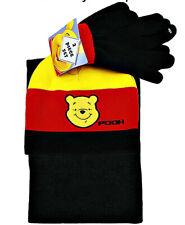 Childs WINNIE THE POOH Soft Knit HAT Cap BEANIE SCARF & GLOVES Glove SET NEW!