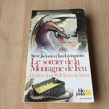 livre LDVELH Le sorcier de la montagne de feu-Défis Fantastiques/ 1ère reédition