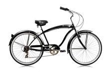"""MICARGI ROVER 7 SPEED 26"""" MEN'S BEACH CRUISER BICYCLE MATTE BLACK"""