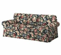 Ikea Ektorp 3 Seat Sofa Slipcover Cover Lingbo Multicolor Floral New 904.033.75