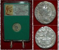 Ancient Roman Empire Coin ANTONINUS PIUS Roma On Reverse Silver Denarius
