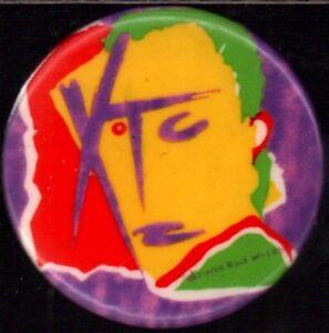 XTC 1979 DRUMS & WIRES TOUR ORIGINAL CONCERT SOUVENIR BUTTON PIN ANDY PARTRIDGE
